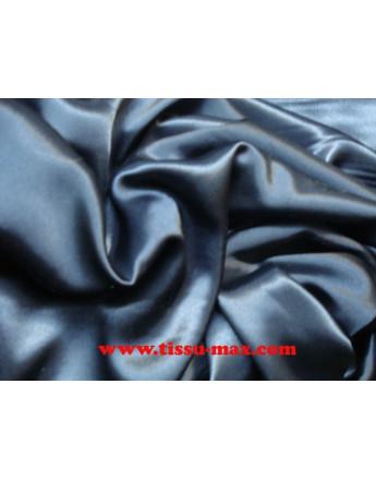 Satin Polyester Bleu Marine