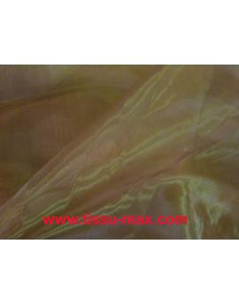 Tissu Organza Marron Brillant Polyester