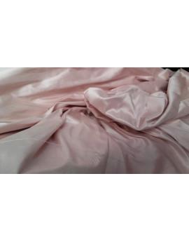 Tissu Soie Sauvage Rose Poudre