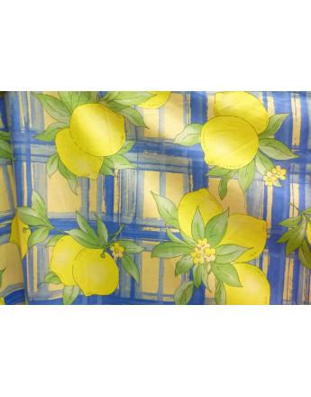 Tissu Fruits Citron Jaune