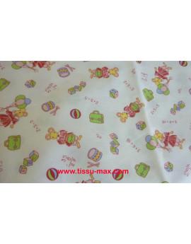Coupon Tissu Enfant Piqué Coton A009 3M