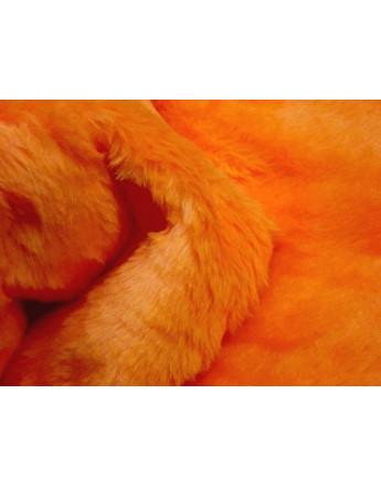 Fausse Fourrure Poils Courts orange fluo