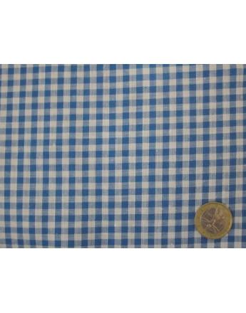 Vichy Petits Carreaux Bleus Largeur 90cm