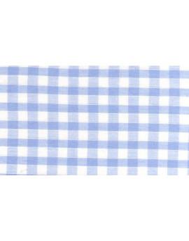 Vichy Moyens Carreaux Bleus Ciel Largeur 90cm