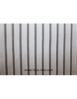 Tissu élastique rayé blanc
