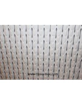 Tissu élastique croisillons blanc