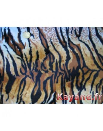 Tissu Fausse Fourrure Tigre
