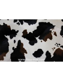 Tissu Fausse Fourrure Vache Marron A002
