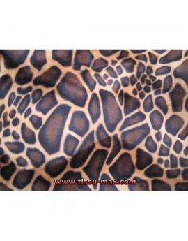 Tissu Fausse Fourrure Girafe 02