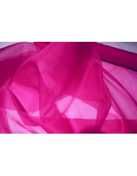 Tissu Organza de Soie Rose Fuschsia