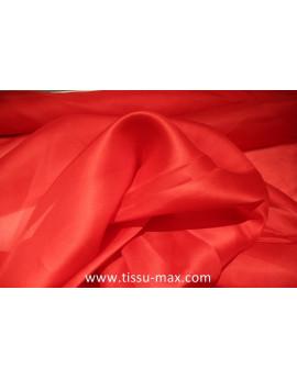 Tissu Organza de Soie Rouge Vif