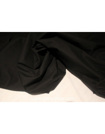 Tissu Popeline de Coton Noir