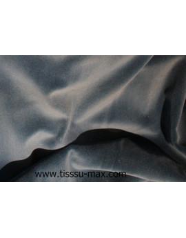 Velours Ras de Coton Bleu-Gris