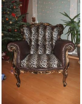 Fausse fourrure léopard noir et blanc A01