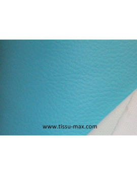 Tissu Similicuir Rigide Turquoise