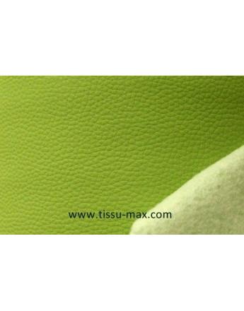 Tissu Similicuir Rigide Vert Anis