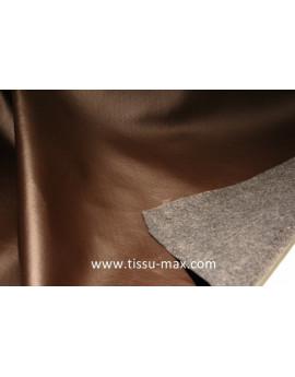 Tissu Similicuir Rigide  Marron