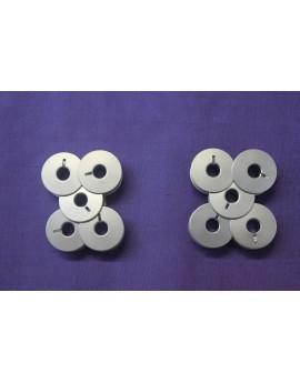 Canettes alluminium, machine à coudre