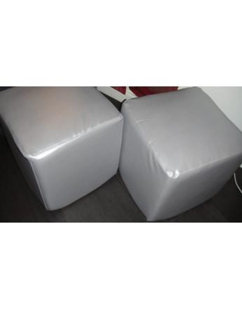 Tissu Simili Cuir Rigide gris argenté Ri 14