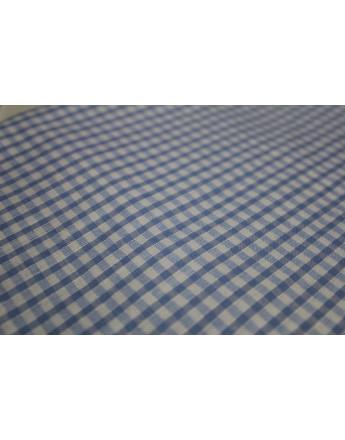 tissu vinyl bleu