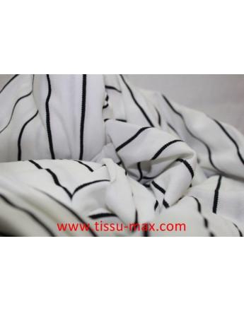 Tissu Elastique Rayures 18