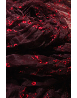 voile polyester rouge (lycra)