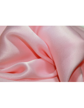 satin de soie rose pale