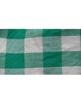 tissu vichy grande carreaux vert et blanc