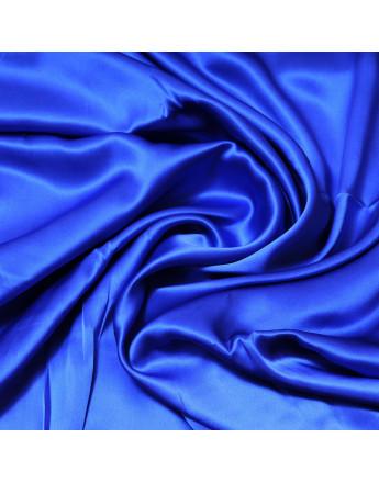 satin de soie bleu électrique