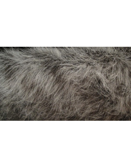 fausse fourrure gris