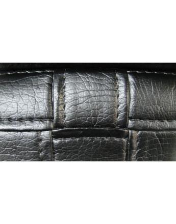 simili cuir rigide noir