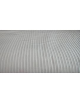 Coton rayure blanc   20