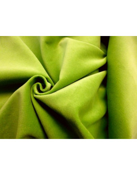 Velour de coton vert claire