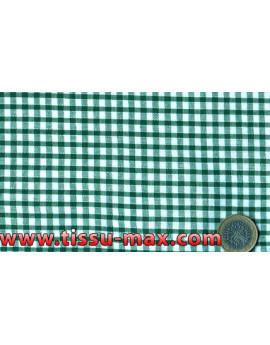 Tissu Vichy Petits Carreaux Verts Largeur 140cm