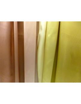 satin de soie dégradé or et vert jaune