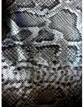 Simili Cuir Rigide imprimé Serpent Gris