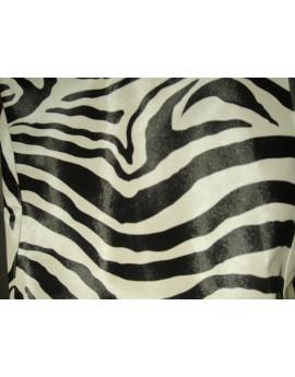 Simili Cuir Rigide Zebre noir et blanc
