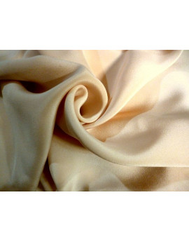 Tissu Crepe de Soie Beige 04