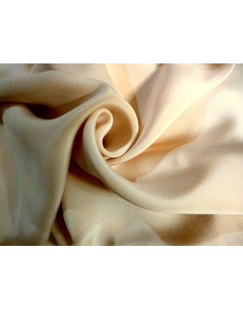 Tissu Crepe de Soie Beige
