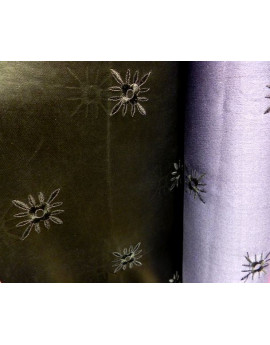 Tissu Simili Cuir Imprimée Noir