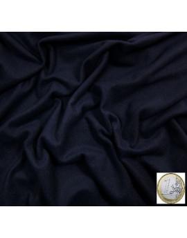 tissu laine bleu marine