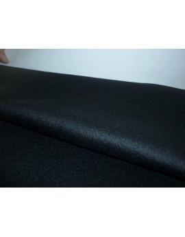 Tissu Velours de Laine Noir Cachemire