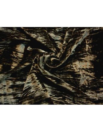 Tissu Velours de Laine Noir