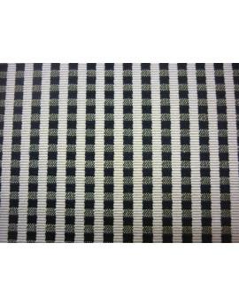 Tissu Vichy Petit Damier blanc cassé et noir