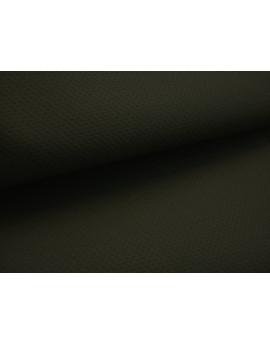 Tissu Coton Piqué Noir
