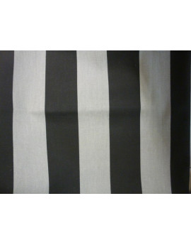 Tissu Rayures Gris et Blanc Cassé