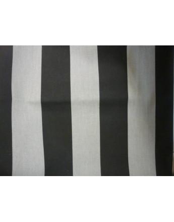 Tissu Rayures Gris et Noir