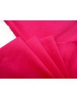 Tissu Coton de Satin Fushia