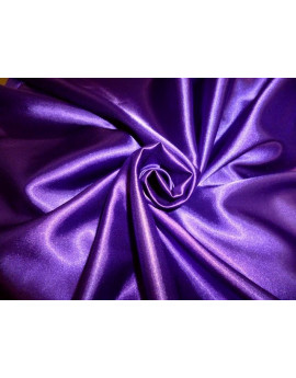 Tissu Satin Violet Polyester 95