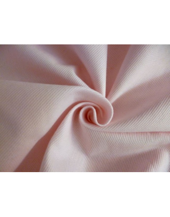 Tissu Piqué Coton Rose Pâle